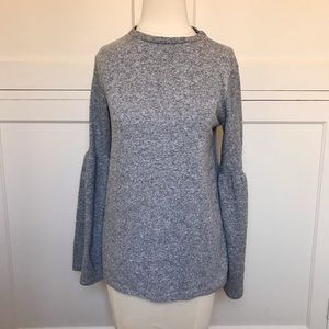 ZARA Heather Gray Long Sleeve Sweater Top Small